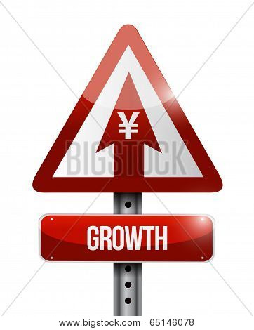 Yen Growth Sign Illustration Design