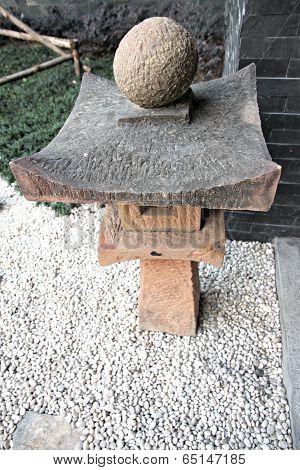 Japanese Lantern Of Garden Equipment.