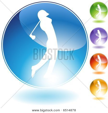 Golf Crystal Icon