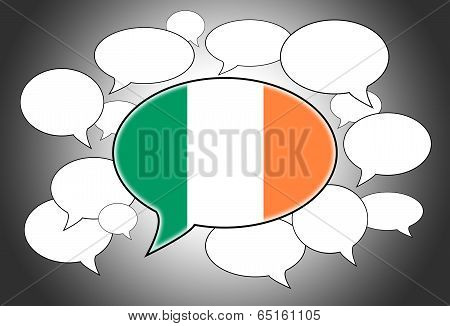 Communication Concept - Speech Cloud