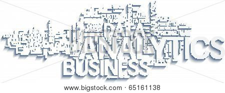 Background concept illustration of analytics business analysis. Vector