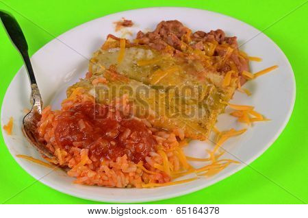 Green Enchilada Mexican Meal