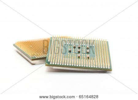 Processors Isolated On White Background