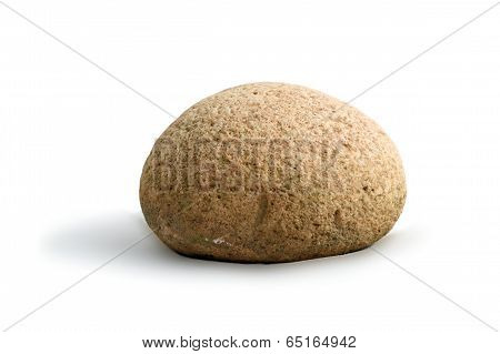 Round Stone On White Background
