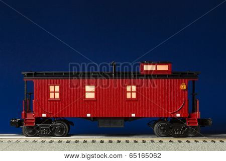 Red Illuminated Caboose