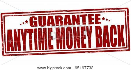 Stamp with text anytime money back inside vector illustration