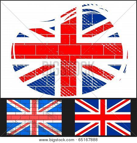 Shabby Flag Of Great Britain