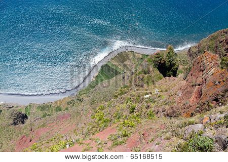 Top View From Gabo Giraol At Madeira Island, Portugal