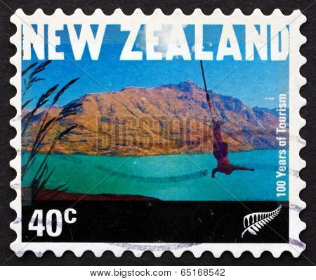 Postage Stamp New Zealand 2001 Bungee Jumper, Queenstown