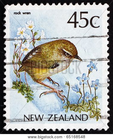 Postage Stamp New Zealand 1988 New Zealand Rock Wren, Bird