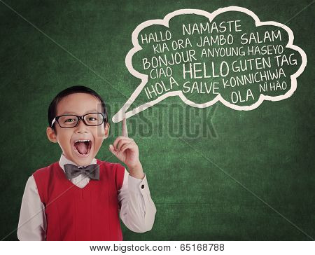 Schoolboy Learn Universal Language
