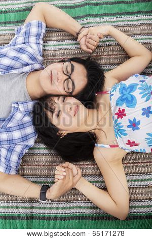 Young Couple Having Dream
