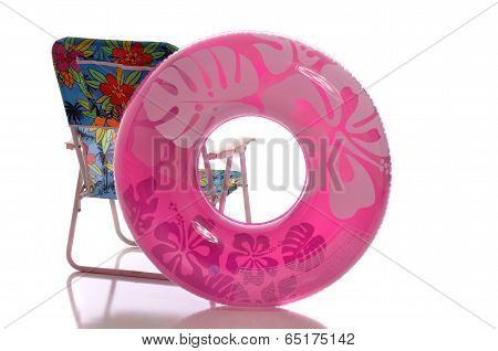Beach chair abd float