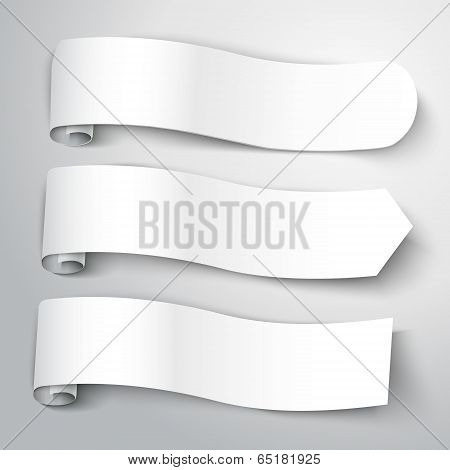 Vector Illustration Of Blank White Note Paper