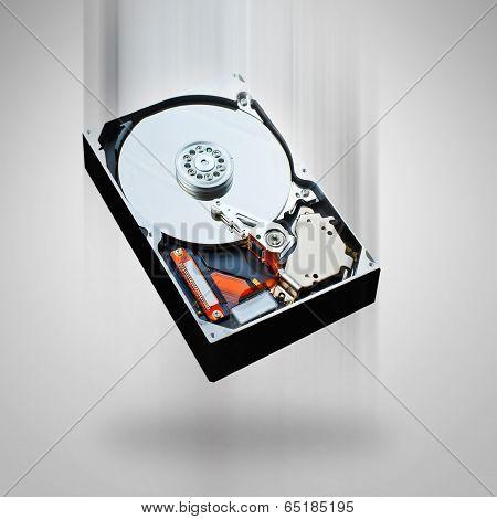 Computer Hard Disk Falling