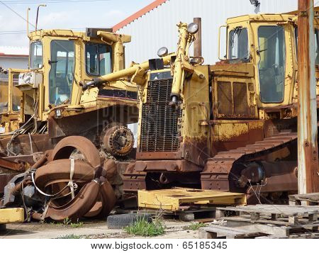 Old Scrap Bulldozer