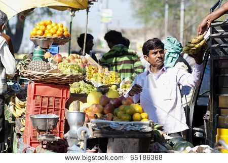 Morning Market In Agra