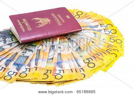 Thai Passport And Australian Notes