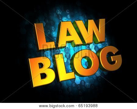 Law Blog - Gold 3D Words