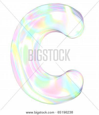 Rainbow alphabet-C