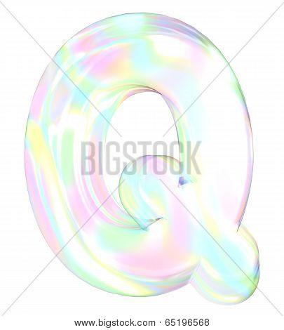 Rainbow alphabet-Q