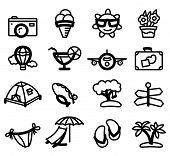 image of glyphs  - Summer minimalistic glyphs  - JPG