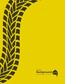 stock photo of skid  - yellow special background with tire track vector illustration Eps10 - JPG