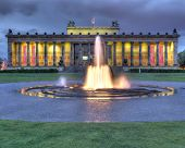 pic of neoclassical  - The neoclassical Altes Museum in Berlin and the Lustgarten  - JPG