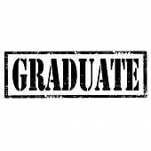 pic of school-leaver  - Grunge rubber stamp with text Graduate - JPG