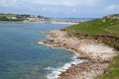 pic of hughes  - Porthcressa bay and Hugh town - JPG