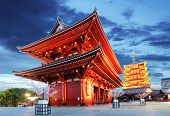 image of buddhist  - Tokyo - Sensoji-ji Temple in Asakusa Japan