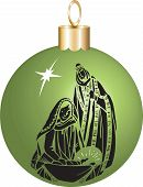 image of christmas baby  - Vector Illustration Nativity Christmas Ornament with baby Jesus Mary and Joseph - JPG