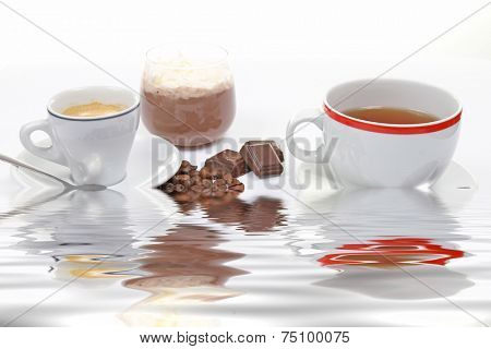 coffe,tea and choco cream