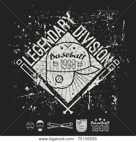 Emblem Baseball Legendary Division Of College