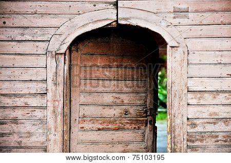 Old Wooden Front Door