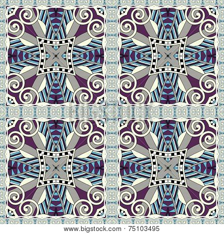 seamless geometry vintage pattern, ethnic style ornamental backg