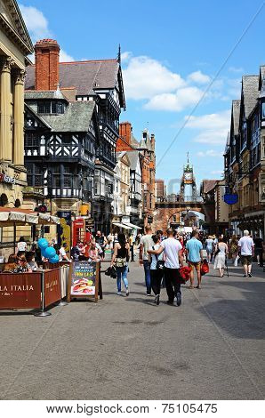 Eastgate shopping street, Chester.