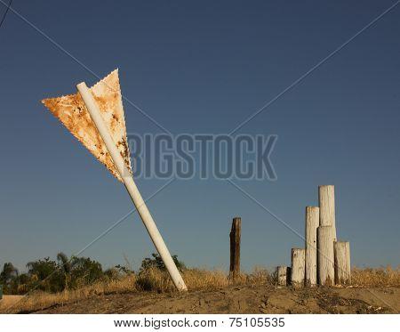 Giant Arrow Stuck in Ground