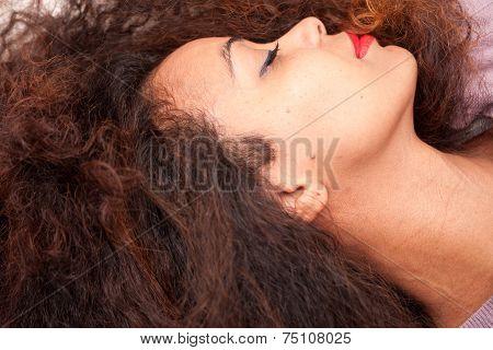 Wonderful African-american Woman Sleeping