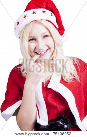 Sexy Female Santa Claus With Hat