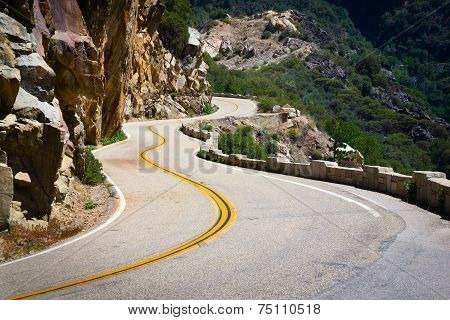 Scenic view on the road in mountains