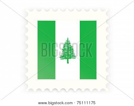 Postage Stamp Icon Of Norfolk Island