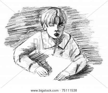 Boy and desk