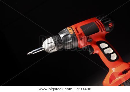 Red Drill Closeup