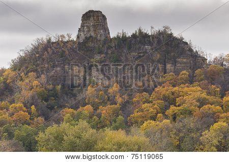 Sugar Loaf Rock In Autumn