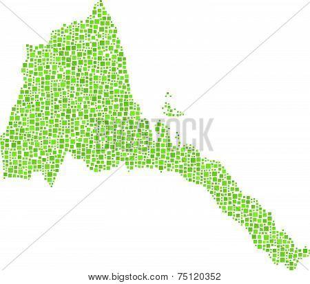 Isolated map of Eritrea