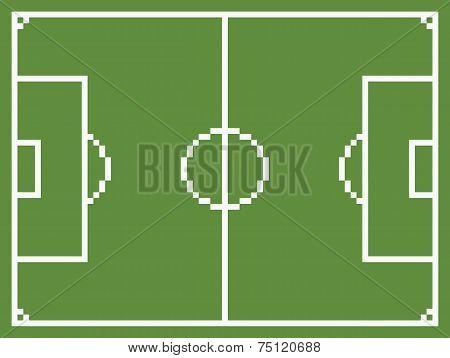 pixel art style football sport field soccer playground