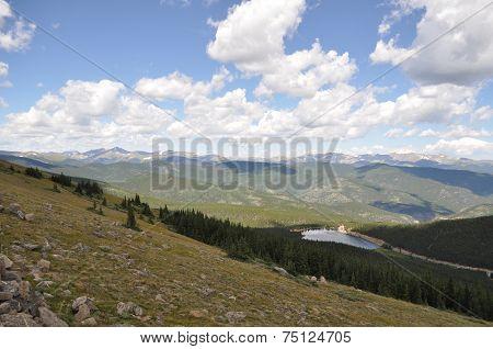 Lake along Mount Evans