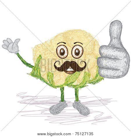 Cauliflower Mustache