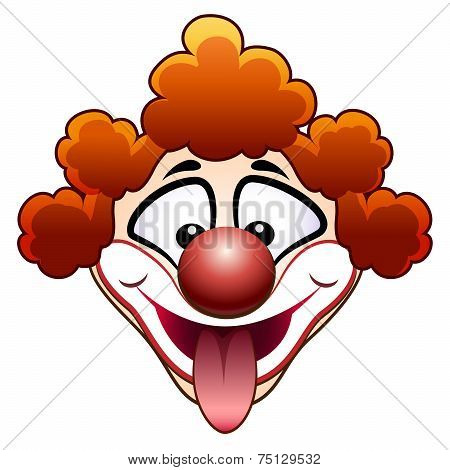 joking circus clown head